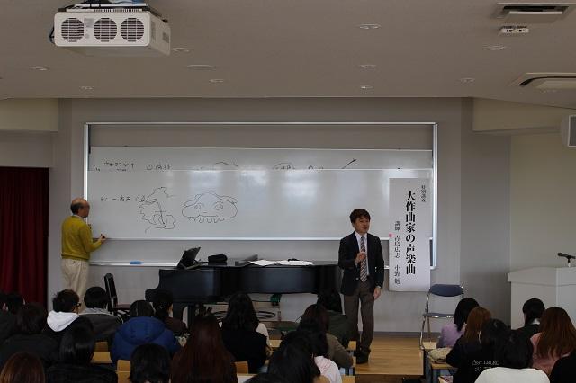 小野先生の歌にあわせて、青島先生が・・・