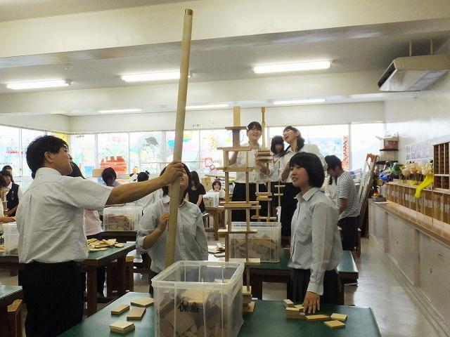 体験授業:木片を使って遊ぼう