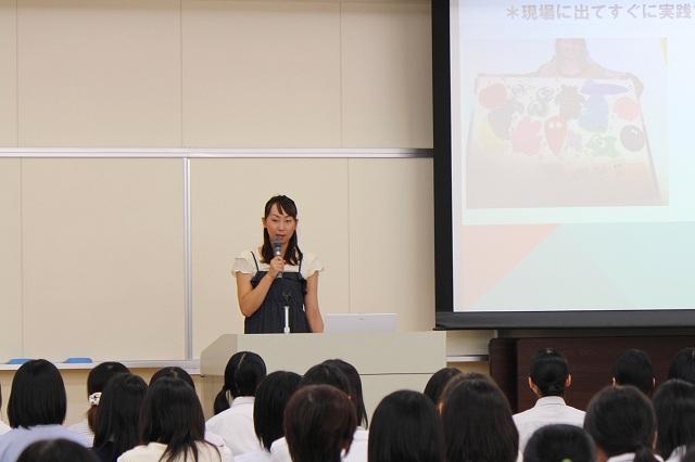 卒業生の話:中村文美先生(東牟礼幼稚園)